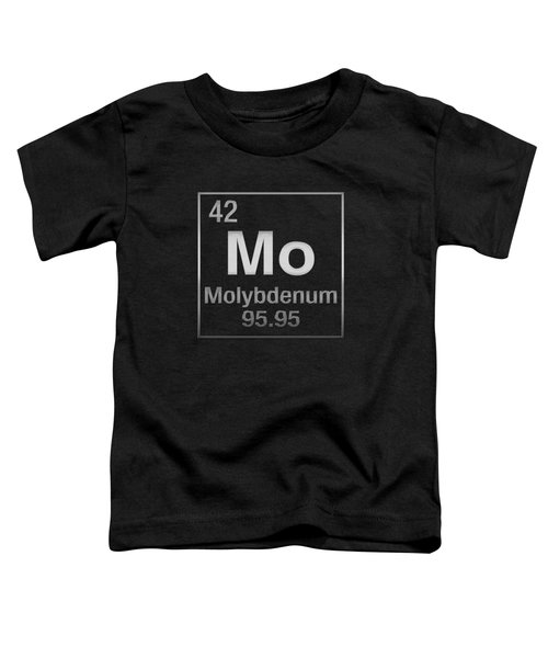 Periodic Table Of Elements - Molybdenum - Mo - On Black Toddler T-Shirt