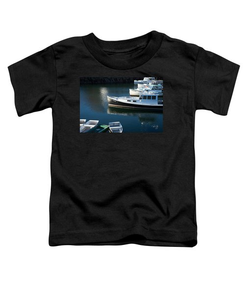 Perkins Cove Lobster Boats One Toddler T-Shirt