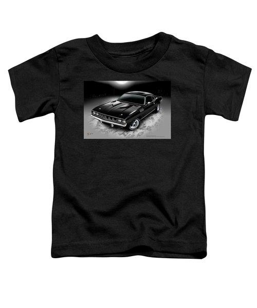 Toddler T-Shirt featuring the digital art Phantasm 71 Cuda by Doug Schramm