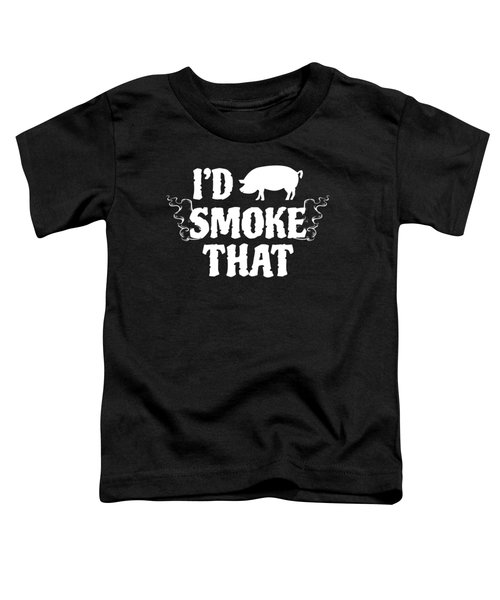 Pig Griller Bbq Barbecue Gift Toddler T-Shirt