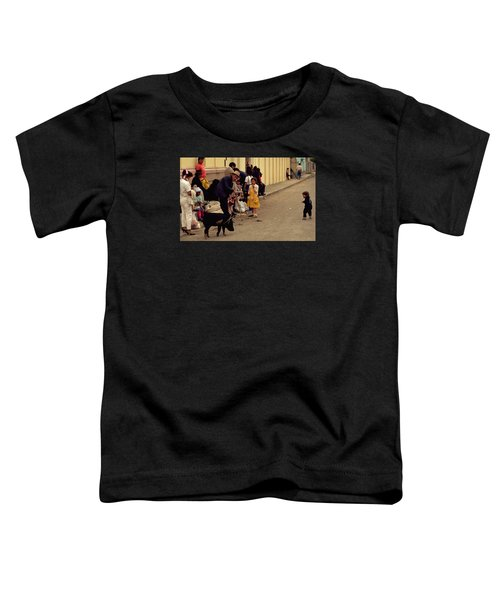 Toddler T-Shirt featuring the photograph Piggy Went To Market by Travel Pics