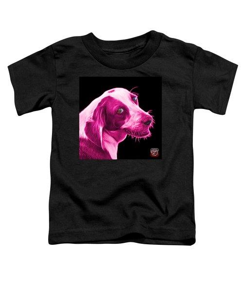 Pink Beagle Dog Art- 6896 - Bb Toddler T-Shirt