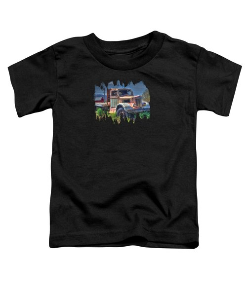 Classic Flatbed Truck In Pink Toddler T-Shirt