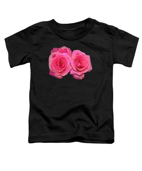 Pink Roses With Enameled Effects Toddler T-Shirt