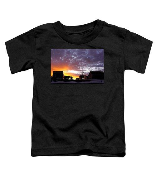 Pioneer Town Sunset Toddler T-Shirt