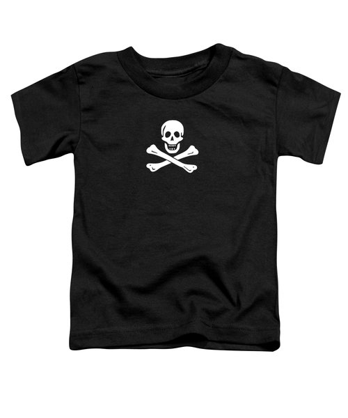 Toddler T-Shirt featuring the digital art Pirate Flag Tee by Edward Fielding