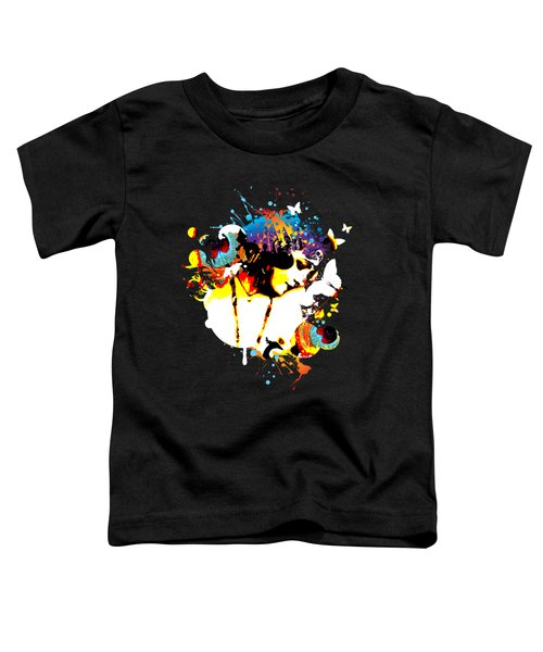 Poetic Peacock - Bespattered Toddler T-Shirt by Chris Andruskiewicz
