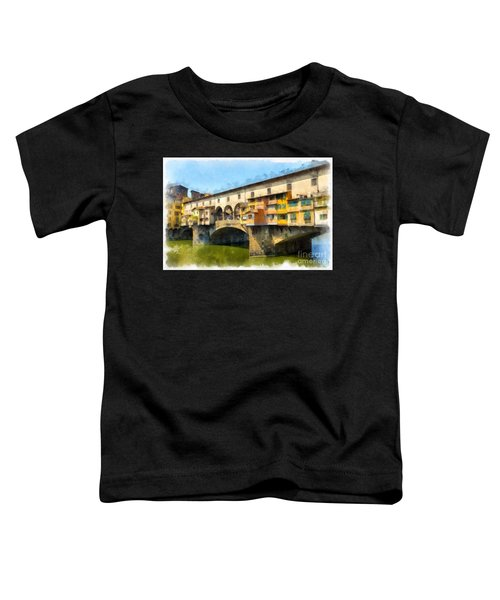 Ponte Vecchio Florence Italy Toddler T-Shirt