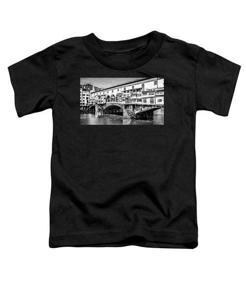 Ponte Vecchio Florence Sketch Toddler T-Shirt