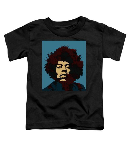 Toddler T-Shirt featuring the digital art Pop Art Jimi Hendrix by Joy McKenzie