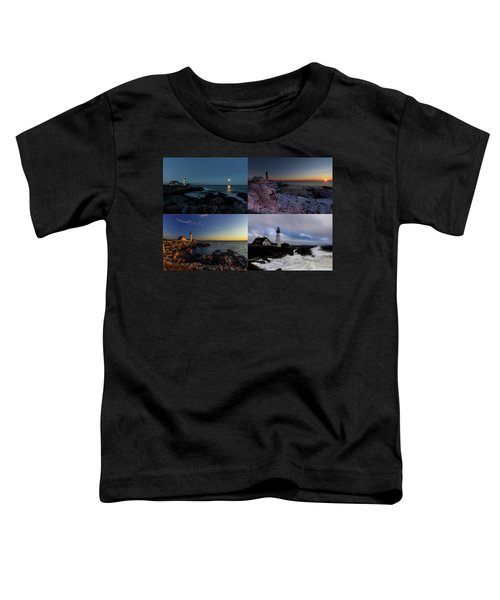 Portland Head Light Day Or Night Toddler T-Shirt
