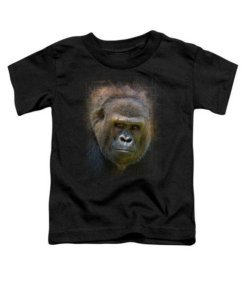 Portrait Of A Gorilla Toddler T-Shirt by Jai Johnson