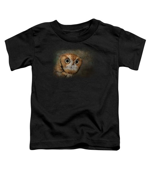 Portrait Of An Eastern Screech Owl Toddler T-Shirt