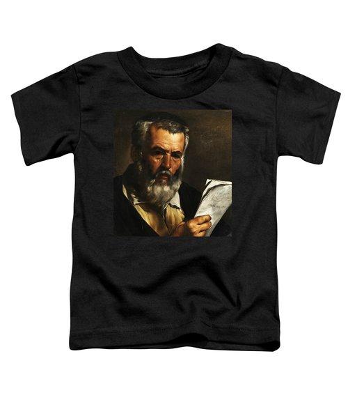 Portrait Of The Philosopher Anaximander Toddler T-Shirt