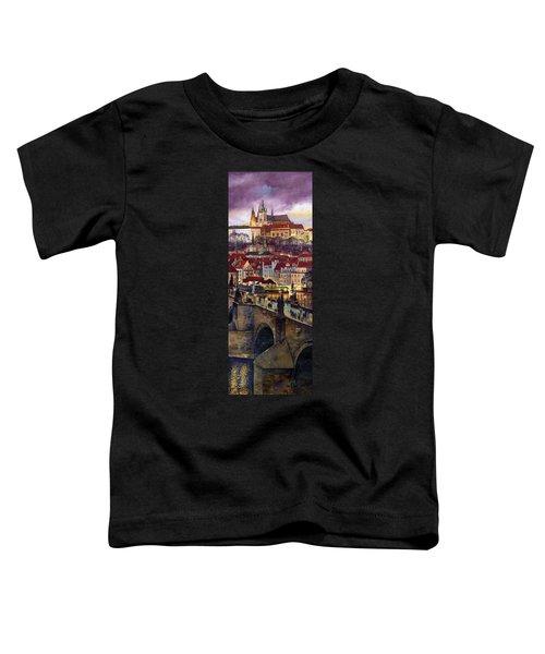 Prague Charles Bridge With The Prague Castle Toddler T-Shirt