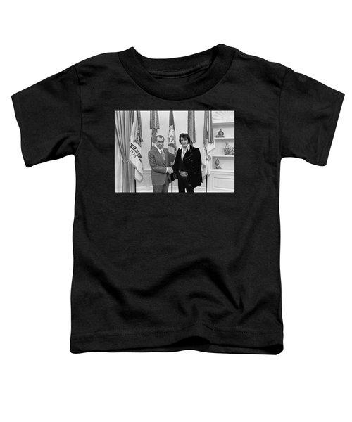 President Richard Nixon Meeting Elvis Toddler T-Shirt