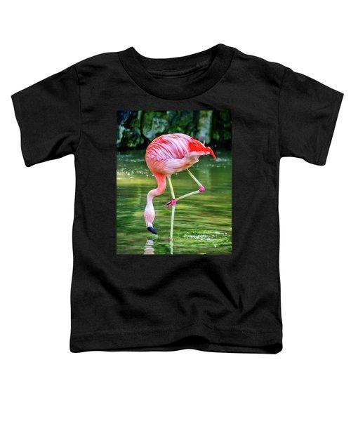 Pretty Pink Flamingo Toddler T-Shirt