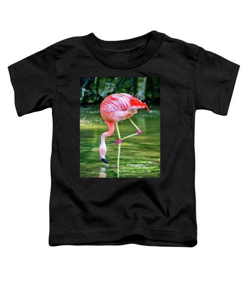 Pretty Pink Flamingo Toddler T-Shirt
