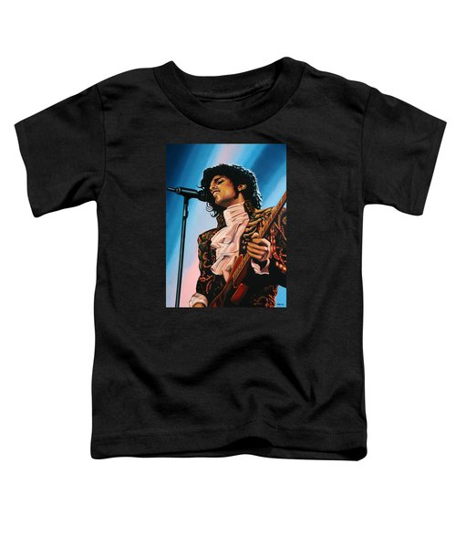 Prince Painting Toddler T-Shirt by Paul Meijering