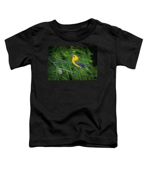 Toddler T-Shirt featuring the photograph Prothonatory Warbler 9809 by Donald Brown