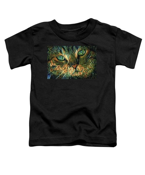Psychedelic Tabby Cat Art Toddler T-Shirt