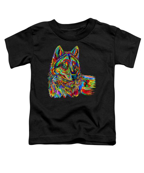 Psychedelic Wolf Toddler T-Shirt