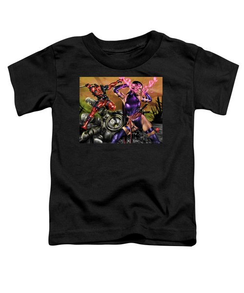 Psylocke And Deadpool Toddler T-Shirt