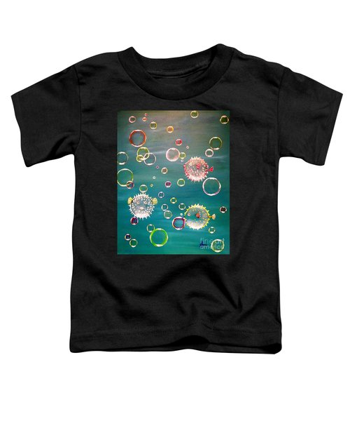Puffer Fish Bubbles Toddler T-Shirt