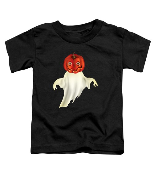 Pumpkin Headed Ghost Graphic Toddler T-Shirt