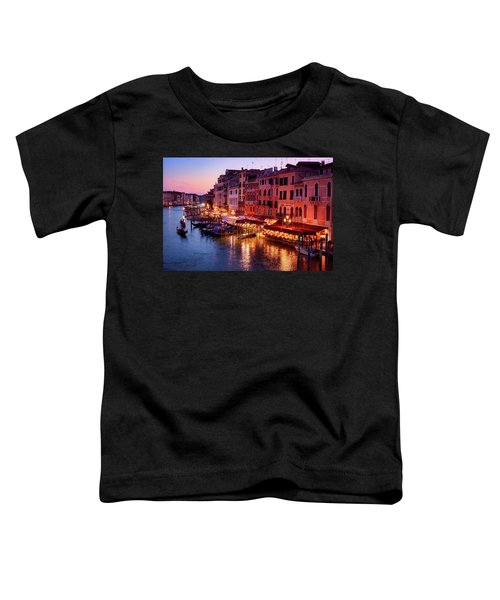 Cityscape From The Rialto In Venice, Italy Toddler T-Shirt