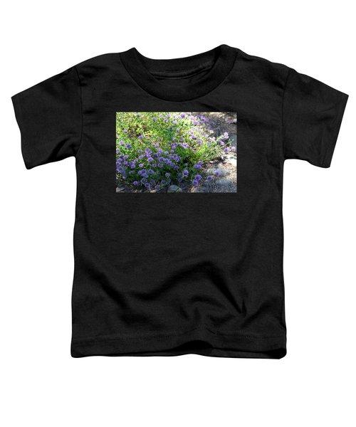 Purple Bachelor Button Flower Toddler T-Shirt