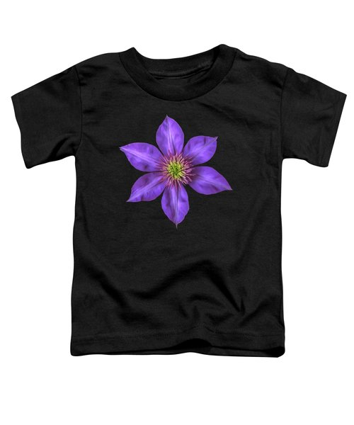 Purple Clematis Flower With Soft Look Effect Toddler T-Shirt