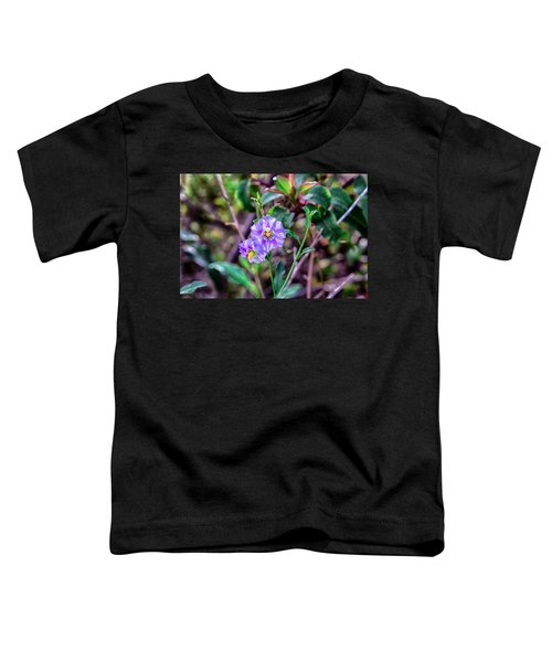 Toddler T-Shirt featuring the photograph Purple Flower Family by Alison Frank