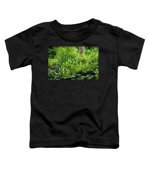 Purple Flowers By The Ponds Edge Toddler T-Shirt