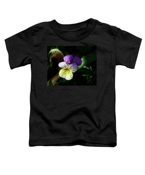 Purple Pansy Toddler T-Shirt
