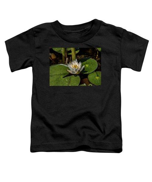 Radiant White Pond Lily  Toddler T-Shirt