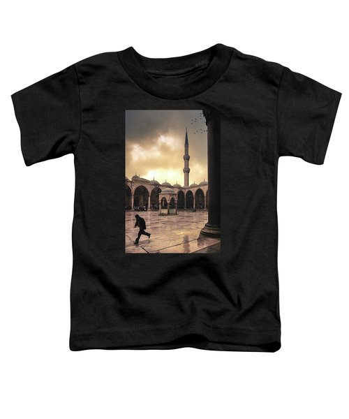 Rain At The Blue Mosque Toddler T-Shirt