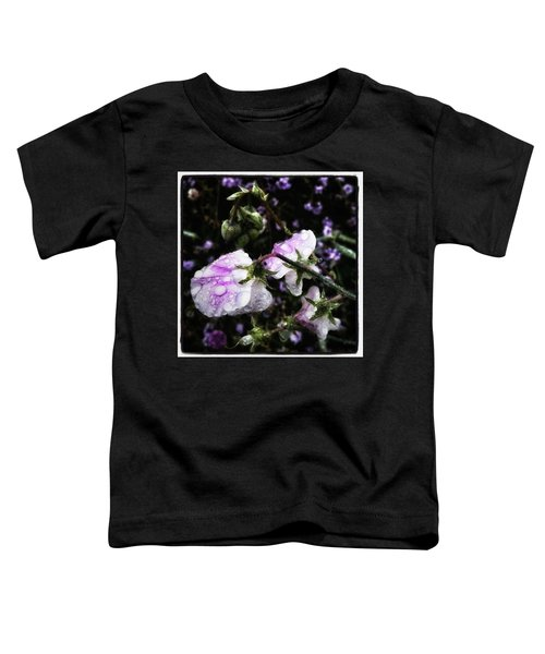 Toddler T-Shirt featuring the photograph Rain Kissed Petals. This Flower Art by Mr Photojimsf