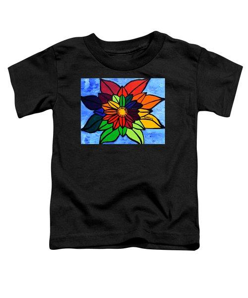 Rainbow Lotus Flower Toddler T-Shirt