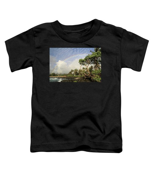 Rainbow Over The Beach Toddler T-Shirt