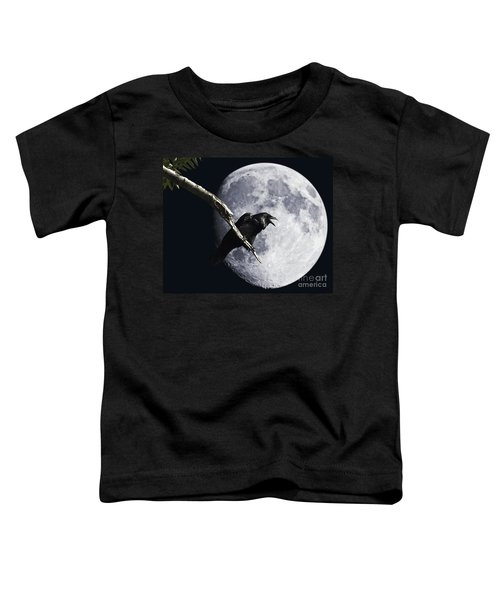 Raven Barking At The Moon Toddler T-Shirt