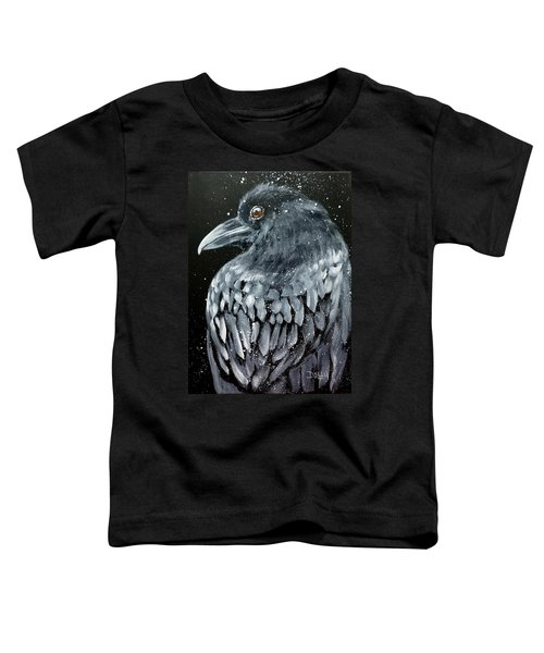 Raven In Snow Toddler T-Shirt
