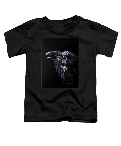 Raven Portrait Toddler T-Shirt