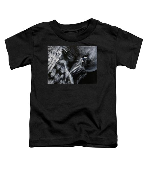 Raven Preening Toddler T-Shirt