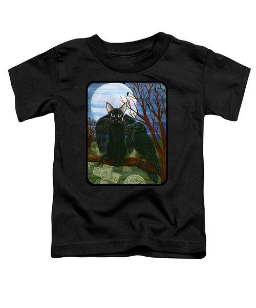 Raven's Moon Black Cat Crow Toddler T-Shirt