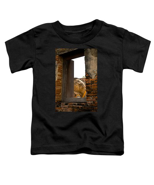 Reclining Buddha View Through A Window Toddler T-Shirt