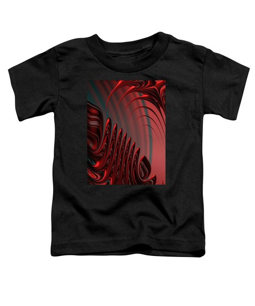 Red And Black Modern Fractal Design Toddler T-Shirt