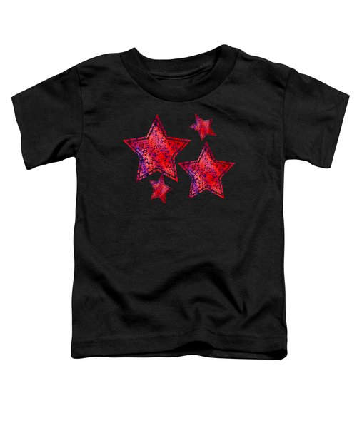 Red And Blue Splatter Abstract Toddler T-Shirt