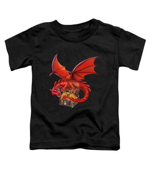 Red Dragon's Treasure Chest Toddler T-Shirt by Glenn Holbrook