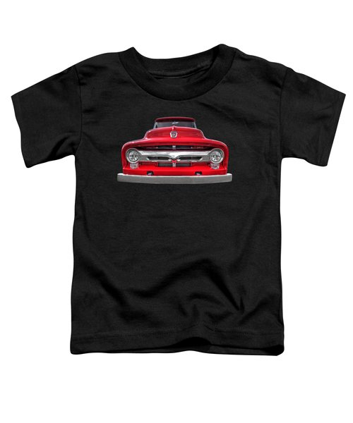 Red Ford F-100 Head On Toddler T-Shirt